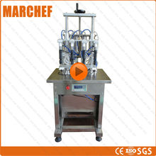 CE ISO 100% four heads 100-1000ml Semi-Synthetic Refrigerator wine juice Perfume alcohol filling machine(China)