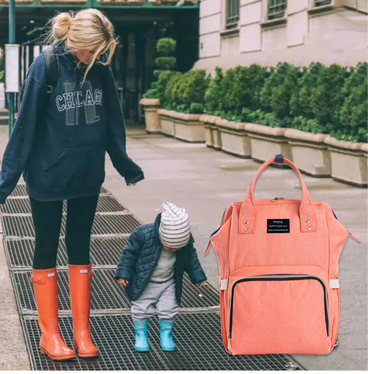 PYETA Fashion Mummy Maternity Nappy Bag Brand Large Capacity Baby Bag Travel Backpack Desiger Nursing Bag for Baby Care 2