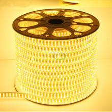 5M 300 Bead LED Light Strip With 5050 Patch Bare Board Fiexble Light Led Ribbon Tape Home Decoration Lamp AC220V EU