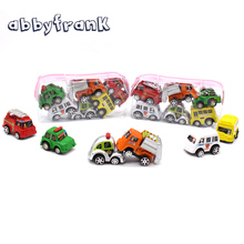 6pcs/bag Children Car Toy Multi Color Mini Wheels Model Miniature Car Toy Pull Back Bus Truck Kids Toys For Children Boy Gifts