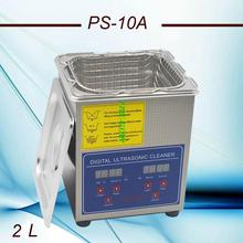Globe hot sale free shipping 11.11 110V/220V PS-10A 80W Digital &heated Ultrasonic Cleaner 2L C with free basket(China)