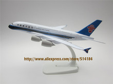 20cm Metal Alloy Plane Model Air China Southern Airlines Aircraft Airbus 380 A380 Airways Airplane Model w Stand