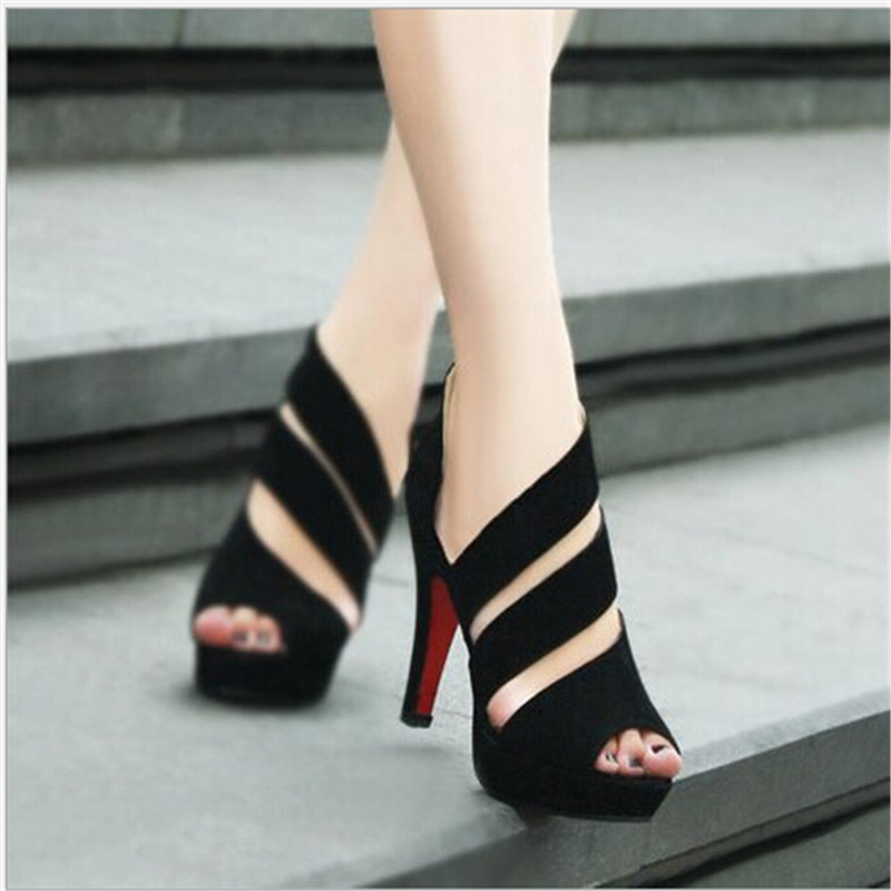 Free shipping !!!summer 2015 club Womens shoes The fishs mouth Side zipper Fine with waterproof ultra-high documentary shoes<br><br>Aliexpress