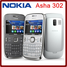 ASHA 302 Original Unlocked Nokia Asha 302 3G network GSM WIFI Bluetooth JAVA 3.15MP Camera Mobile Phone one year warranty