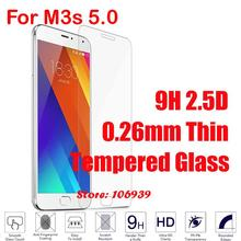 Ultra Thin Anti-Scratch Cheap Best 9H 2.5D 0.26mm Phone Cell Accessories Glass Screen Protector For Meizu M3s 5.0
