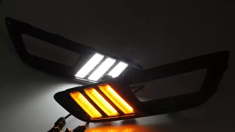 LED DRL + turn light for 2015 ford focus 4 daytime running light, whole set price, top quality<br><br>Aliexpress