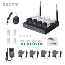 ESCAM WNK404 CH 720P HD Outdoor IR Night Vision Video Surveillance Security IP Camera WIFI CCTV System Wireless NVR Kit