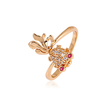 Xuping Fashion Ring Top Quality Fish Style Ring Gold Color Plated Synthetic CZ Rings Jewelry Promotion Gift 10906