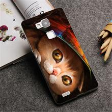 A cat hiding under a magazine painting Hard phone Case Cover for Huawei P8 Lite P8 P9 P9 Plus & Mate 7 8 fashion Down Design