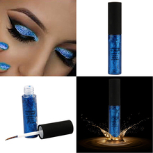 Best Deal New Fashion Blue Pigments Metallic Smoky Eyes Eyeshadow Waterproof Glitter Liquid Eyeliner&Eyeshadow drop shipping