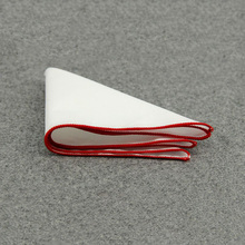 Mantieqingway Pocket Square White Solid Handkerchiefs for Mens Suit Chest Towel 23*23cm High Quality Handkerchief Wedding Party