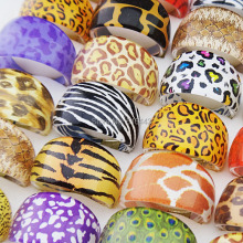 2015 Nen  Mix 20pcs Zebra Leopard Tiger Top Resin Fashion Party Rings Wholesale Jewelry Lots