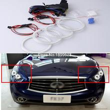 Super bright red blue yellow white 3528 smd led angel eyes halo rings car styling For Infiniti FX QX70 FX35 FX37 FX50 2009-2013