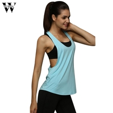 Buy 8 Colors Summer Sexy Women's Tank Tops Quick Drying Loose Brethable Fitness Sleeveless Vest Workout Top Exercise T-shirt #30 for $4.15 in AliExpress store