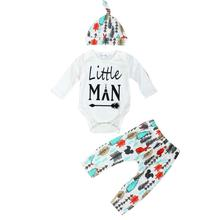 Retailed Hot Sale Fashion Newborn Baby Printed Long Sleeve Tops +Long Pants Hat Outfits Set Clothes china clothing factories