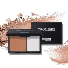 Beauty Makeup 2 Color 3D Facial Highlighter Contour Bronzer Powder Brighten Shading Powder Cosmetic
