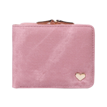 2017 Hot Fashion Women Clutch Short Wallet Purse Folding Faux Leather Purse Heart Card Holder Coin Bags Pockets 7 Colors New(China)