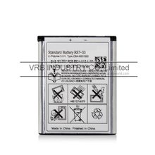 950mAh bst-33 cell mobile phone battery bateria for sony ericsson free singapore air mail with retail box
