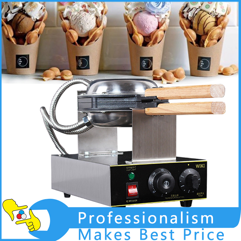 Commercial Electric Egg Cake Oven Eggettes QQ Egg Waffle Maker Machine 220V 1500W<br>