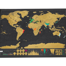 Hot New Luxury Home Decor One Piece In Stock Deluxe Scrape Map World Map Wallpaper Wall Stickers 2 Types