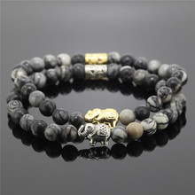 New Coming Women Bracelet,Fashion Charm Jewelry,Natural Spider Web  Stone Beads Bracelet, Elephant Bracelet