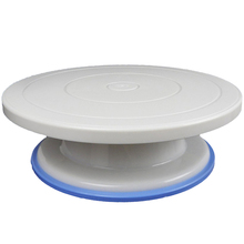 27cm Plastic Cake Turntable Rotating Cake Decorating Turntable Anti-skid Round Cake Stand Cake Rotary Table