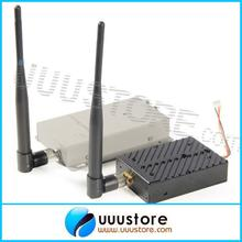 1.2Ghz 5000mW 1.2g 5W Wireless AV Video Audio Transmitter with 1.2G Receiver High Gain Antenna long range transmitter(China)