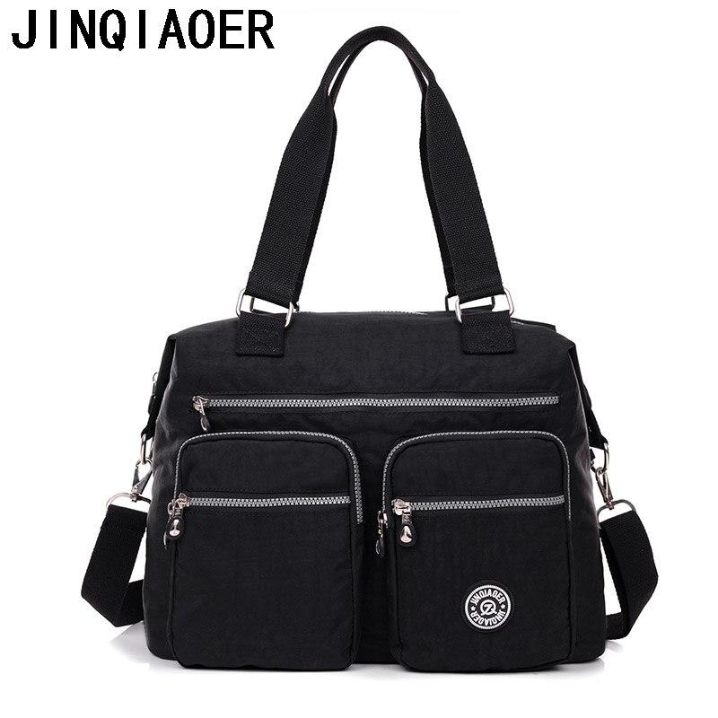 JINQIAOER Women Nylon Messenger Bags Casual Tote Womens Shoulder Bags Female Large Handbag Crossbody Bags Bolsas Kiple Style<br><br>Aliexpress