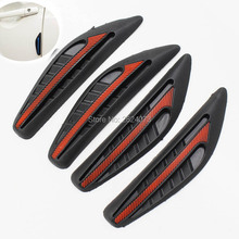 4PCS Car Door Protector Strip and Rearview Mirror Protector Door Side Edge Protection Car Accessories For Ford VW Chevrolet KIA