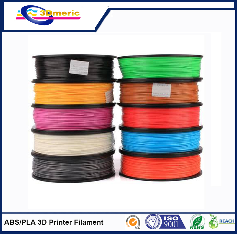 2016 best sellings 1.75  and 3.00mm ABS PLA 3D Printer Filaments with all colors<br>