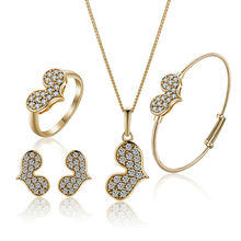 Gold-Color Children Heart Jewelry Sets,Kids Jewellery, Free shipping(S18K-50)