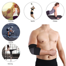 1pcs New Elastic Breathable Sport Elbow Pads Basketball Badminton Tennis Elbow Support Protector Absorb Sweat Elbow #SBT60(China)
