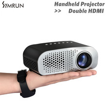 Symrun Dual HDMI TV HD TV Home Cinema Projector HDMI LCD LED Game PC Digital Mini Projectors Support 1080P Proyector 3D Beamer