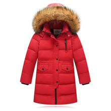 Children Winter Jacket Made of Goose Feather Winter for Girls Boys Parka Coat Child Duck Down Clothes Outwear Kids Down Jacket(China)