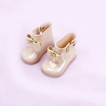 13.5-18.5cm girl rain boots children's shoes bow candy smell baby toddler cute girl fashion boots non-slip water shoes sapa