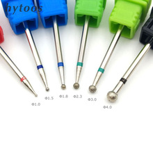 HYTOOS 6 Size Ball Diamond Nail Drill Bit Rotary Burr Cuticle Clean Bits For Manicure Drill Accessories Nail Beauty Tool Mills
