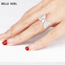 Cute Mesh Ring Exquisite Hollow Bow Small Ring Women SR18