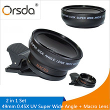 Buy Orsda Mobile Phone Professional Macro Lens 37MM 0.45X 49UV Super Wide Angle Lenses Macro Clip Lenses High Definition iphone for $10.99 in AliExpress store
