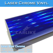 CARLIKE Laser Blue Chrome Holographic Rainbow Vinyl Car Decoration