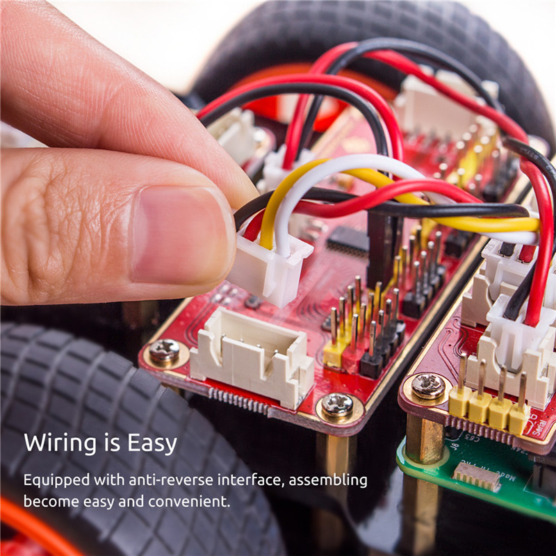 Obstacle Avoidance Line Following Remote Control RC Car Kit For Raspberry Pi 3 ,2 Model B+ (5)