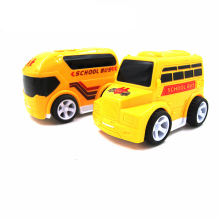 1Pcs Children Toy School Bus miniature truck plastic Toy Vehicles Yellow School Bus Kids toys for children Random style(China)
