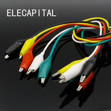 Brand New 10pcs Alligator Clips Electrical DIY Test Leads Alligator Double-ended Crocodile Clips Roach Clip Test Jumper Wire(China)