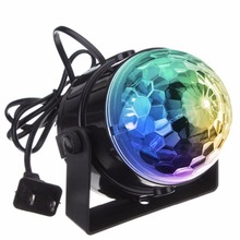 1pcs Mini 3W Music sound activated lights dance bar home party lamp rotating stage light with remote control Xmas party KTV club