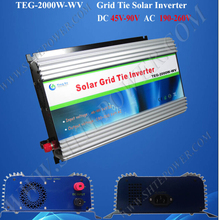 48V 120V grid tie inverter, 2000W solar on grid connect invertor,home inverter for solar panels(China)
