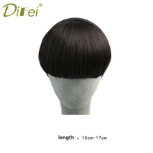 Buy DIFEI Hair Short Straight Bangs Full Fringe Short Straight Hair Hairpieces Extensions Women for $5.90 in AliExpress store