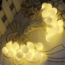 220V 4M 20 LED String Fairy Lights with Cherry Balls Led Lamp Christmas lights for Garden Wedding Party Garland decorations