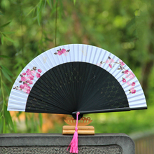 Japanese Cherry blossoms Ladies Cheaper Bamboo Folding Hand Fans,Wholesale Personalized Bamboo Fan of Old Wedding Decoration 21