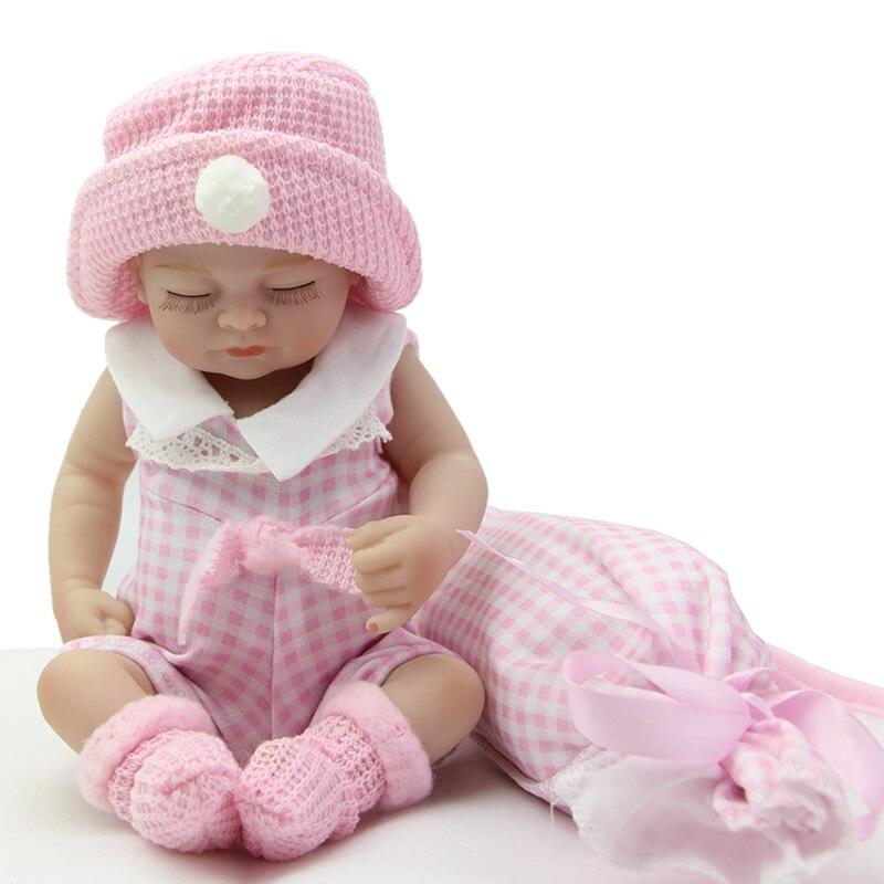 Handmade Boneca Sleeping Full Soft Vinyl 11 Inch Alive Mini Newborn Reborn Babies Realistic Baby Toy Kids Birthday Xms Gift<br><br>Aliexpress