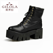 new 2016 size 34-43 fashion ankle women's platform high heels women boots shoes woman autumn winter boots best #Y1090527F