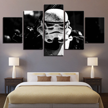 Canvas Paintings Living Room HD Prints Posters Framework 5 Pieces Star Wars Stormtrooper Movie Pictures Wall Art Home Decor